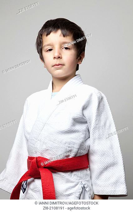 Boy in kimono