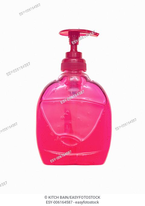 Soap dispenser isolated against a white background