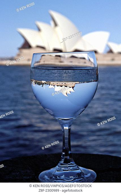 Sydney Opera House with Inverted Glass Image, Sydney, Australia