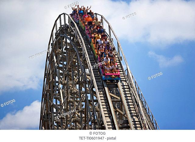 People on rollercoaster