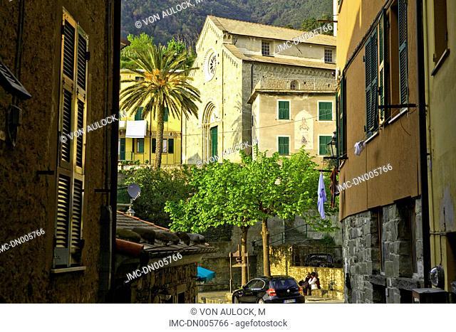 Italy, Liguria, Corniglia, church