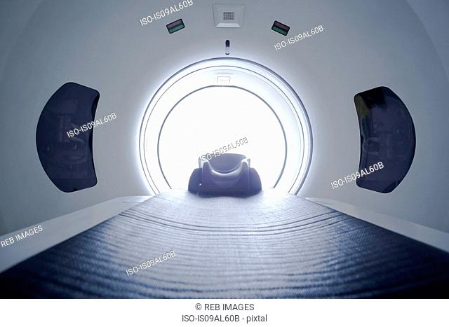 Inside of CT scanner