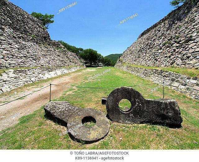 Juego de Pelota Oeste. Xochicalco archaelogical site. Mexico