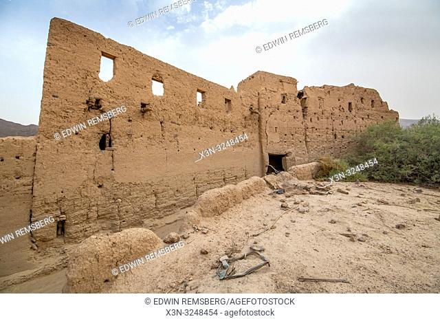 Abandoned Ruin Wall, Foum Zguid, Morocco