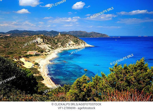 Capo Carbonara beach, Sardinia, Italy