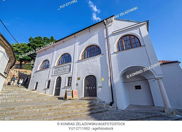 Exterior of Old Synagogue in Mikulov town, Moravia region, Czech Republic