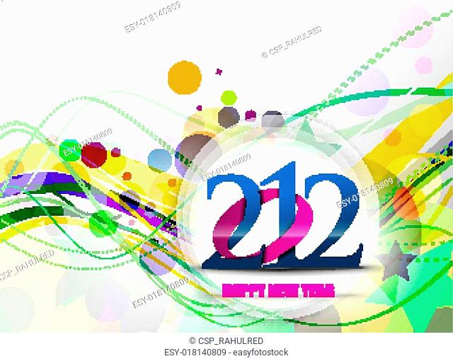 New year 2012 poster design