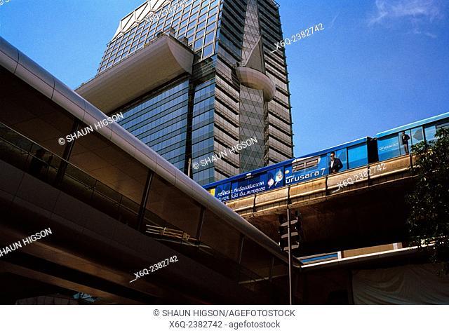 Cityscape in urban Bangkok in Thailand in Southeast Asia Far East