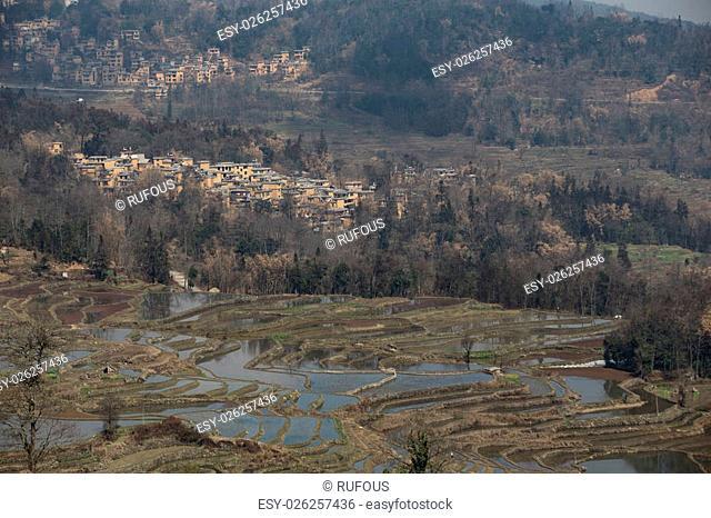 View of Yuan Yang Rice terraces