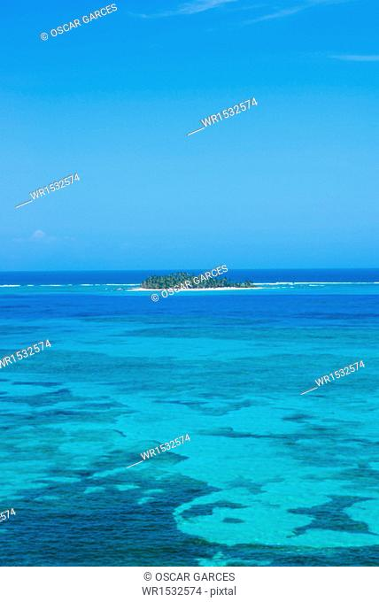 Panoramic of San Andres Island, Archipelago of San Andres, Providencia and Santa Catalina, Colombia