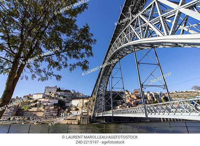 The Dom Luis I Bridge over Douro river, Porto, Douro Litoral Province, Portugal, Europe