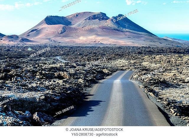 National Park Timanfaya, Montanas del Fuego, Yaiza, Lanzarote, Canary Islands, Spain