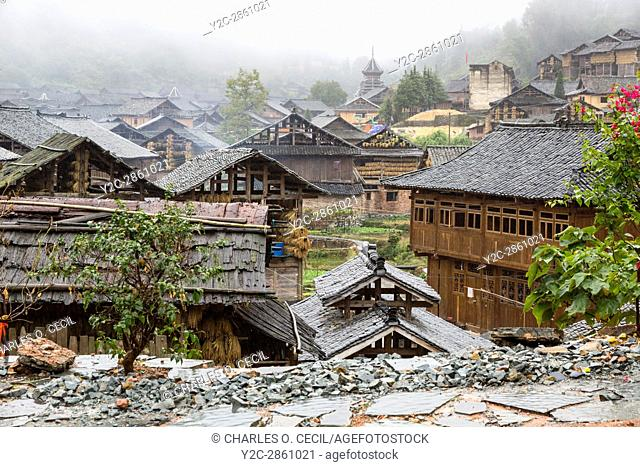 Huanggang, Guizhou, China. A Dong Ethnic Village