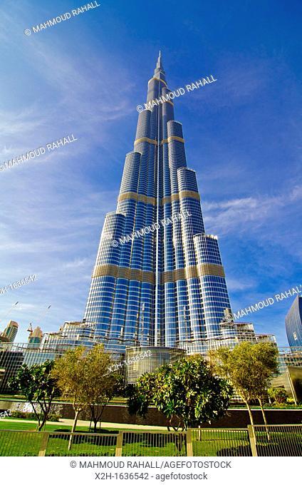 Burj Khalifa, world's tallest tower, in Dubai, United Arab Emirates