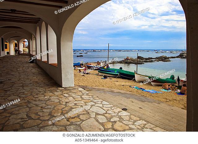 Port Bo beach  Calella de Palafrugell, Palafrugell, Baix Empordá, Costa Brava, Girona Province, Catalonia, Spain