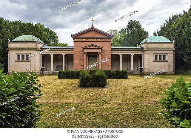 Old mausoleum (1826), Rosenhohe, Darmstadt, Hesse, Germany