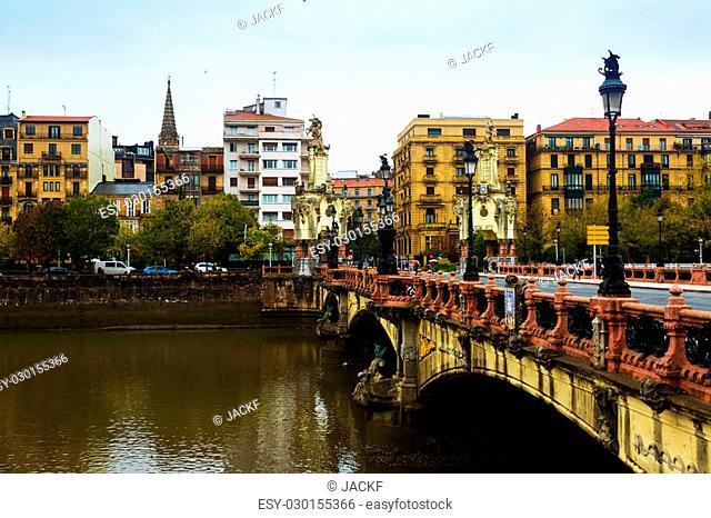 Maria Cristina bridge over Urumea. Donostia, Spain