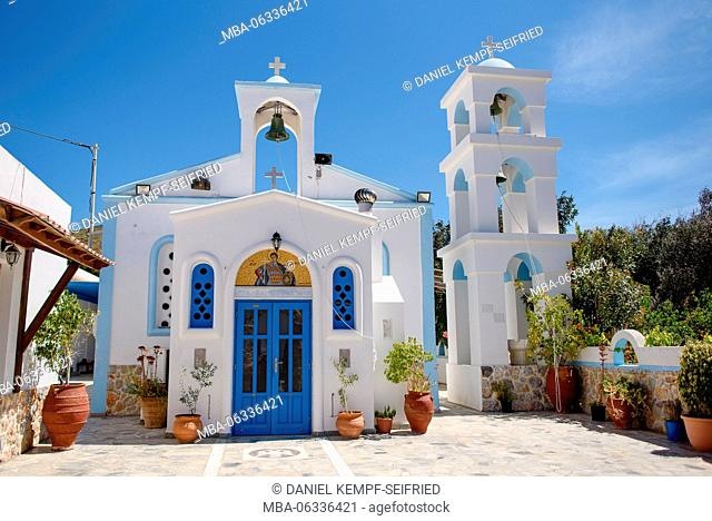 Orthodox church on the island Astypalea in the Aegean Sea, Greece