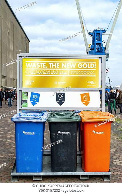 Rotterdam, Netherlands. Environmental waste disposal is the new gold, since its components can be used and recycled to produce new products