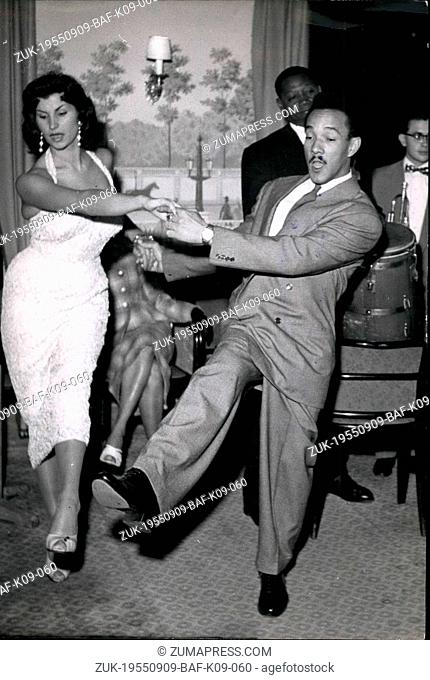 Sep. 09, 1955 - Cha Cha Cha new Mexican Dance makes a hit in Paris: Perez Pantalon Prado, King of Cha Cha Cha, the new Mexican Dance