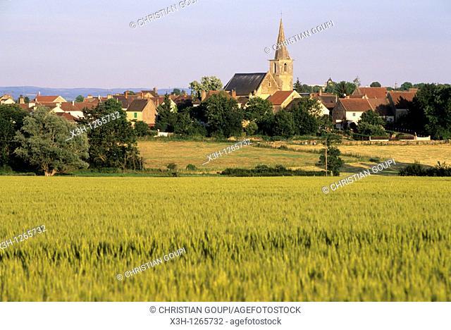 village around Tannay, Nievre department, region of Burgundy, center of France, Europe