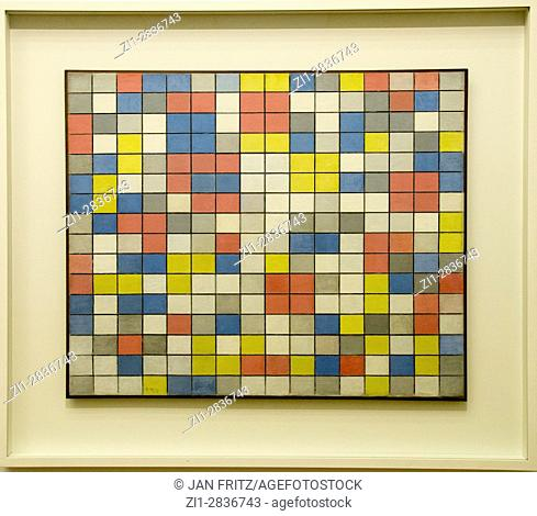 'composition with grid 9', from piet mondriaan, 1919