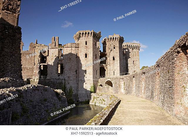 Raglan Castle, Monmouthshire, Wales, UK