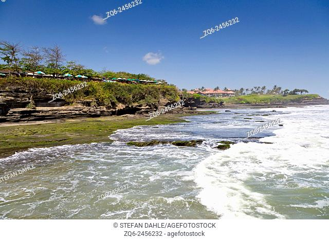 View onto the Indian Ocean near the Temple Pura Tanah Lot, Bali, Indonesia