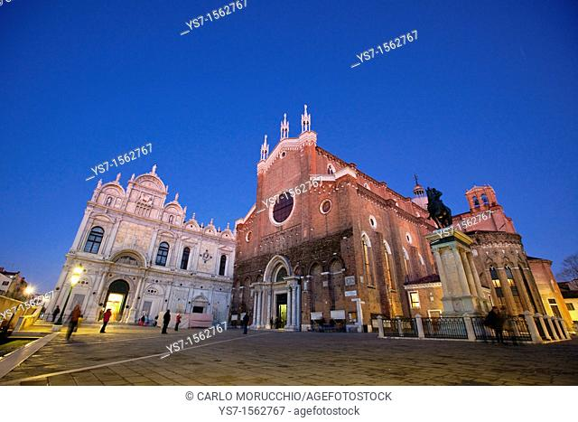 San Giovanni and Paolo church and former convent, now the main hospital in Venice, Italy