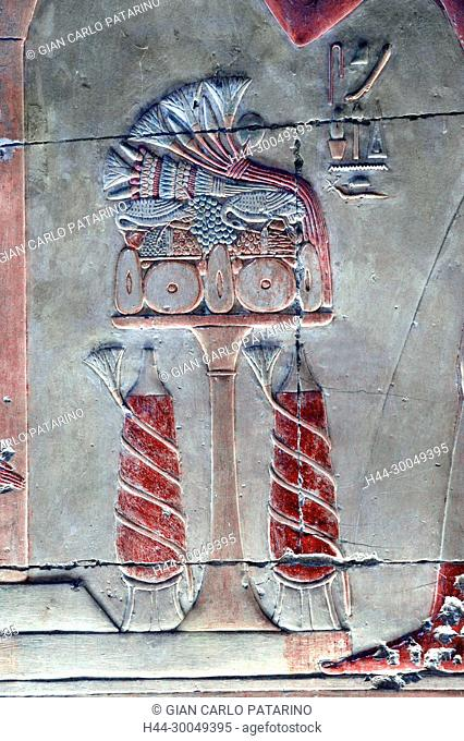 Abydos,Egypt, the mortuary temple of pharaoh Seti I, Menmaatra, (XIX° dyn. 1321-1186 B.C.) - A table of offerings