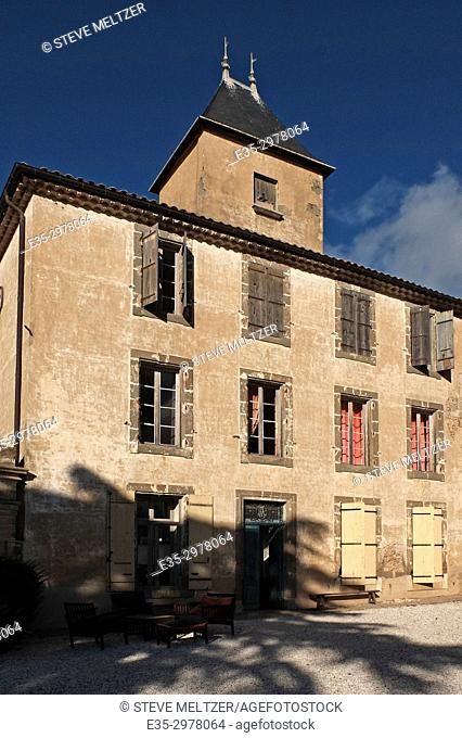 The renovated chateau of the Domaine La Baume winery estate in Servian, France