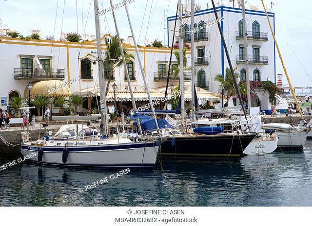 Puerto de Mogan, small harbour town in the extreme southwest of the island, marina