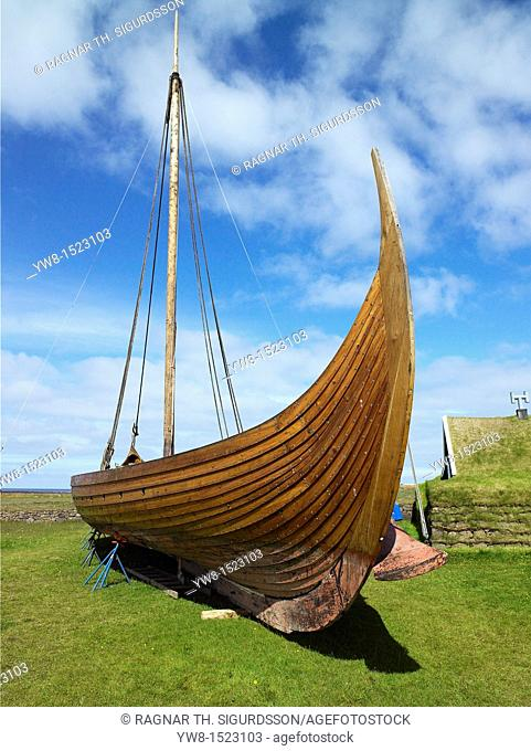 Replica Viking Ship 'Islendingur' 'The Icelander', is a replica of the ancient Viking longships  The ship sailed the oceans to duplicate the voyage taken by...