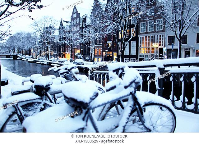 Winter of 2010 in Amsterdam, Netherlands