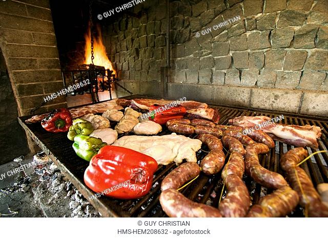Argentina, Buenos Aires Province, parilla grilled offal and meat