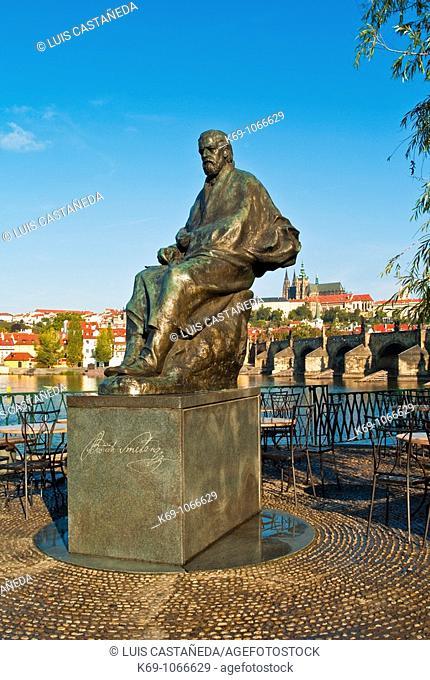 Monument to composer Biedrich Smetana, Prague, Czech Republic