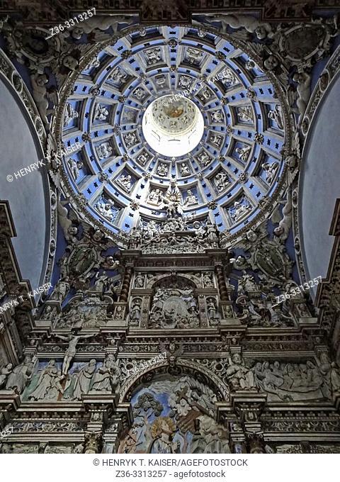 Inside of Chapel of the Boim family, Lviv, Ukraine,