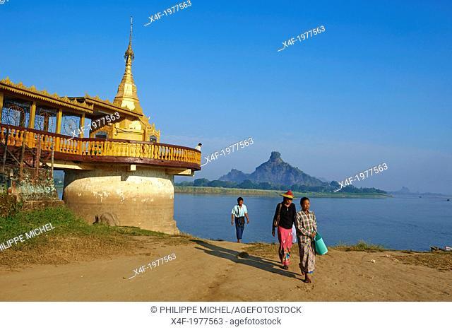Myanmar (Burma), Karen state, Hpa-an, Shweyinhmyaw pagoda
