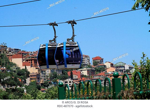 Funicular to Pierre Loti Cafe, Istanbul, Turkey