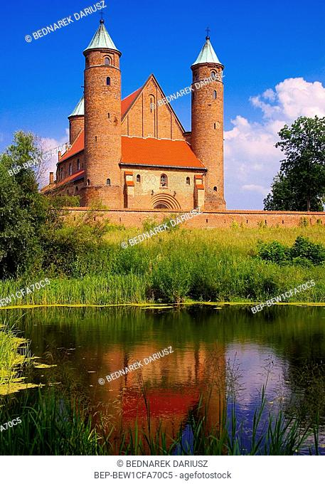 Church of Saint Rochas and John the Baptism, the place of Frederic Chopin`s baptism. Brochow, village in Masovia voivodeship, Poland