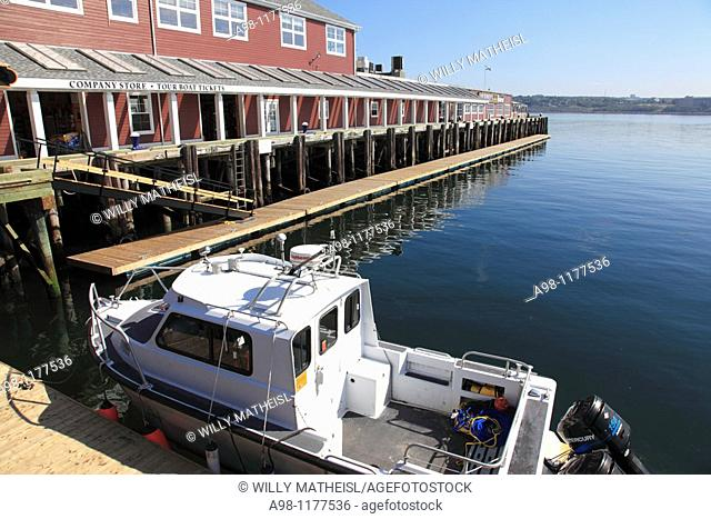 famous Murphy's Cable Wharf at the Harbour Walk of Halifax, Nova Scotia, Canada, North America