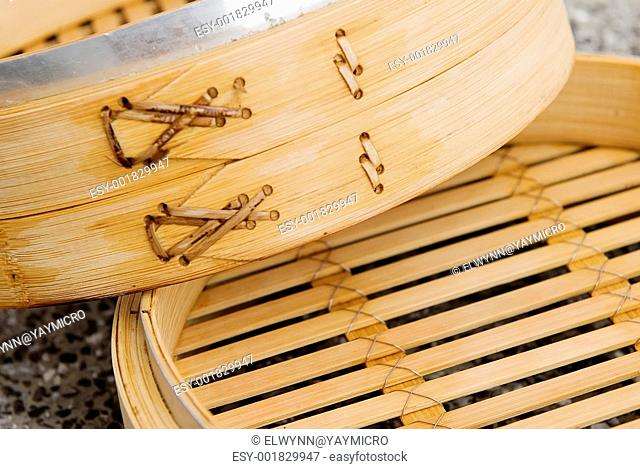 It is a chinese steamer made with bamboo