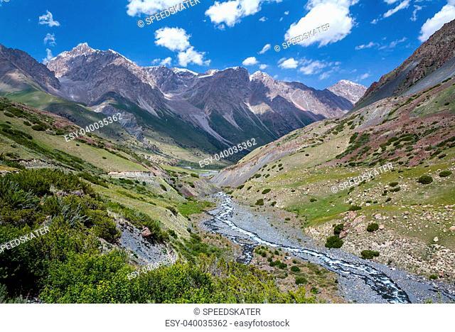 Rapid Djuku river in Tien Shan, Kyrgyzstan