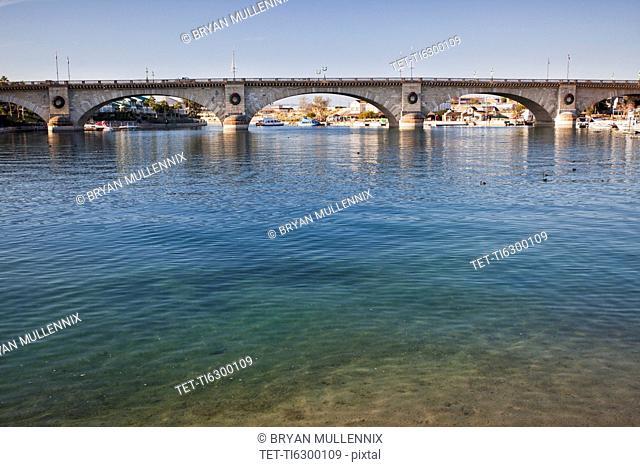 USA, Arizona, Lake Havasu, historic London Bridge
