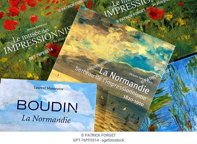 BOOK ON THE IMPRESSIONIST PAINTERS IN THE SEINE-MARITIME, NORMANDY, FRANCE BOUDIN, MONET..., INDEPENDENT BOOKSTORE 'LA GALERNE', LE HAVRE, SEINE-MARITIME 76