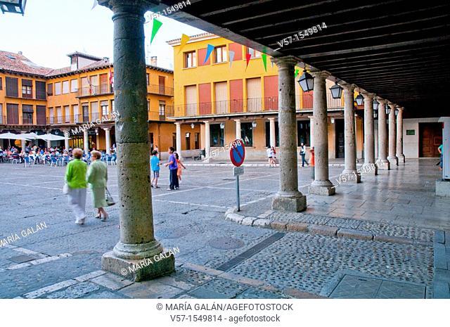 Main Square. Tordesillas, Valladolid province, Castilla Leon, Spain