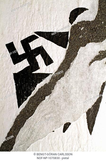 Nazi graffiti on a wall