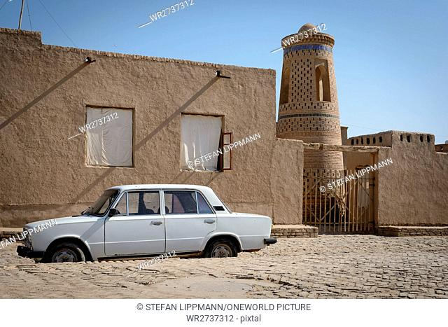 Uzbekistan, Xorazm province, Xiva, typical Soviet car LADA, actually a license building of the Fiat 125
