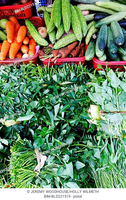 Full frame view of fresh produce for sale at market