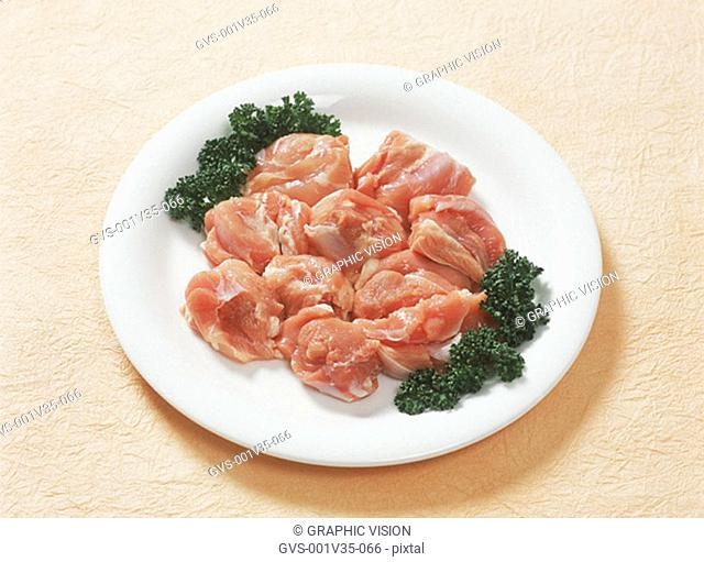 Uncooked Chicken on Plate